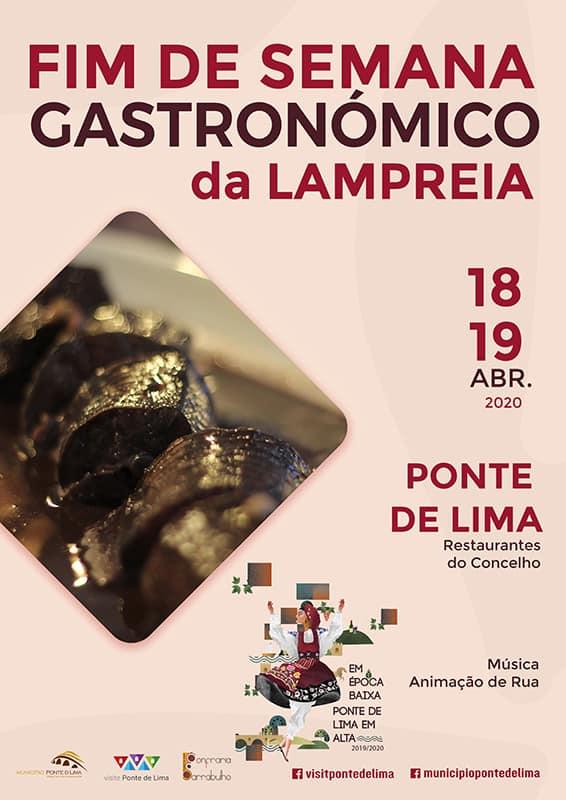 FIM DE SEMANA GASTRONÓMICO DA LAMPREIA 2020 EM PONTE DE LIMA