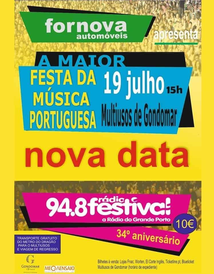RÁDIO FESTIVAL 2020 – FESTA DO 34º ANIVERSÁRIO   GONDOMAR