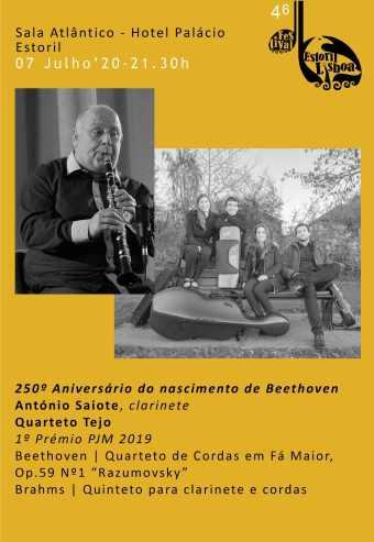 46º FESTIVAL ESTORIL LISBOA – QUARTETO TEJO ANTÓNIO SAIOTE, CLARINETE