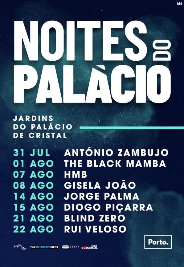 NOITES DO PALÁCIO – 31 JULHO A 22 AGOSTO | JARDINS DO PALÁCIO DE CRISTAL