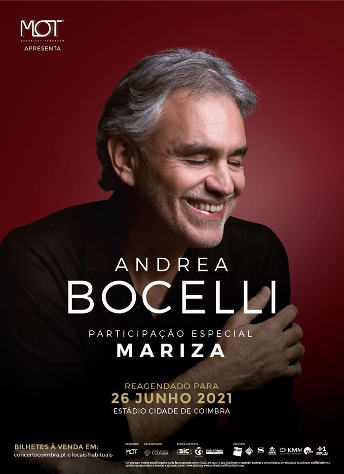 ANDREA BOCELLI EM COIMBRA | 26 JUNHO 2021