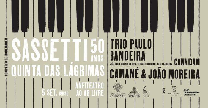 Bernardo Sassetti, o genial compositor e pianista desaparecido em 2012, vai ser homenageado no dia 5 de setembro, pelas 18h30, pela Associação Cultural Quebra Costas e a Fundação Inês de Castro, que, com o apoio da Câmara Municipal de Coimbra, assinalam o 50.º aniversário do seu nascimento.