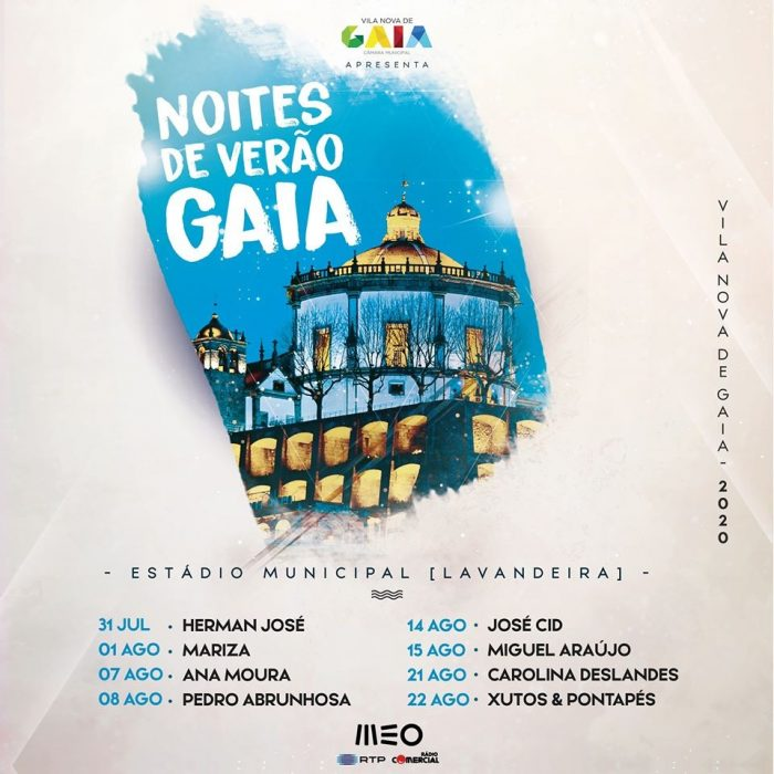 As Noites de Verão prosseguem em Gaia, e no próximo fim de semana, estará em palco José Cid, para atuar no dia 14 de agosto, e Miguel Araújo no dia 15, este último concerto com os bilhetes já esgotados.