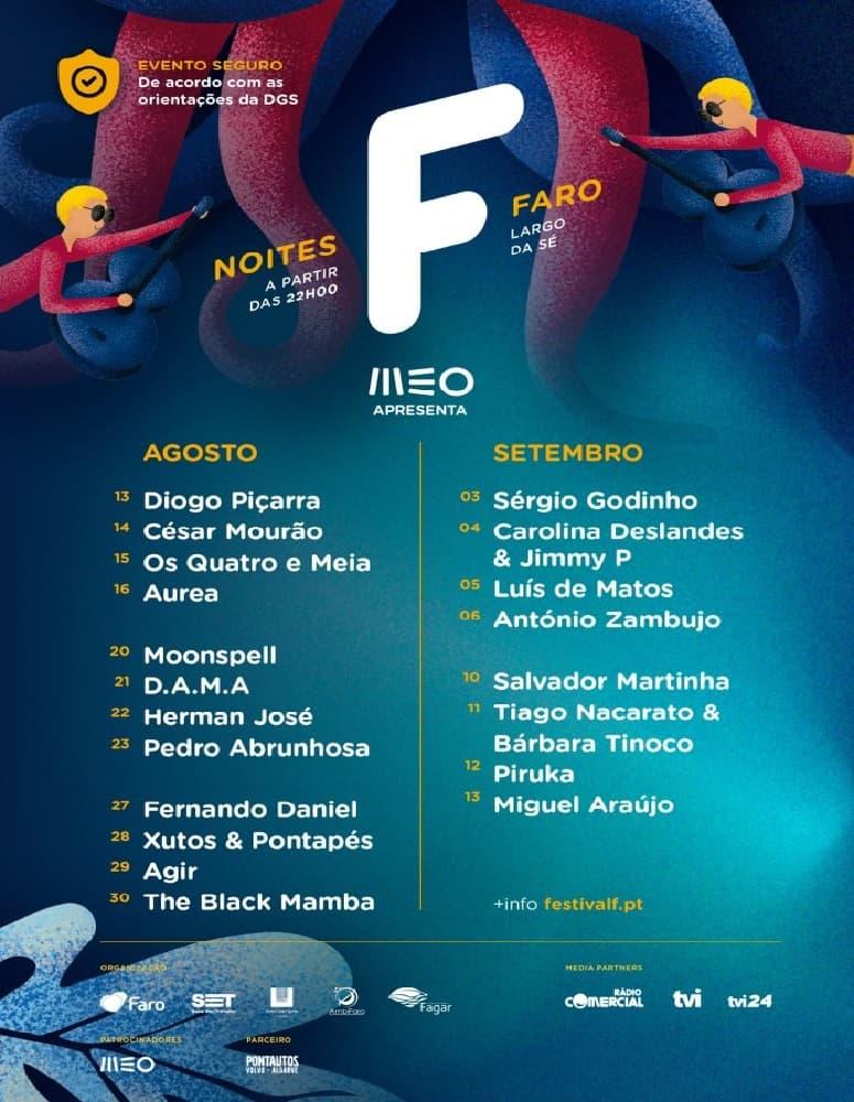 NOITES F PARA CELEBRAR O FESTIVAL F DE 13 AGO A 13 SET EM FARO